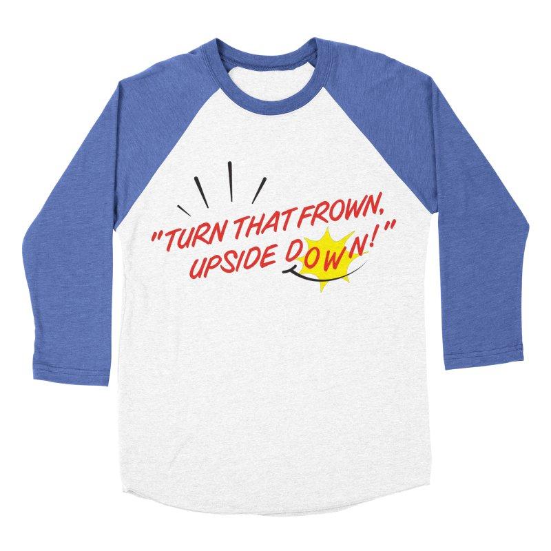 Smile Men's Baseball Triblend Longsleeve T-Shirt by Nina's World