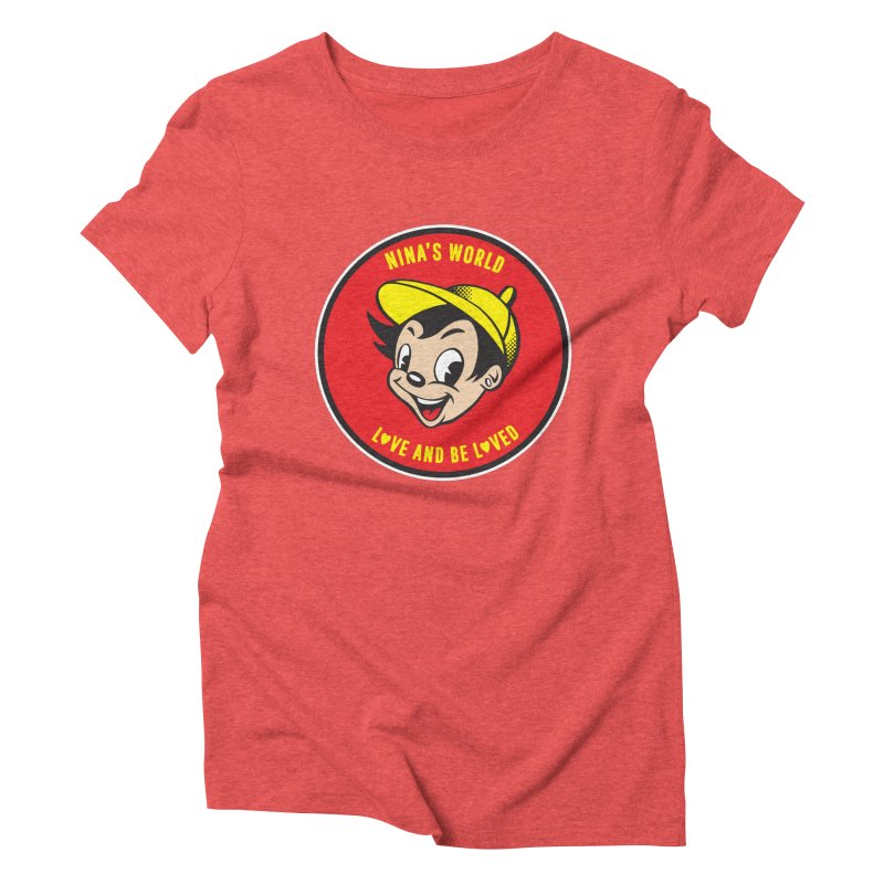 Love and Be Loved Women's Triblend T-Shirt by Nina's World!