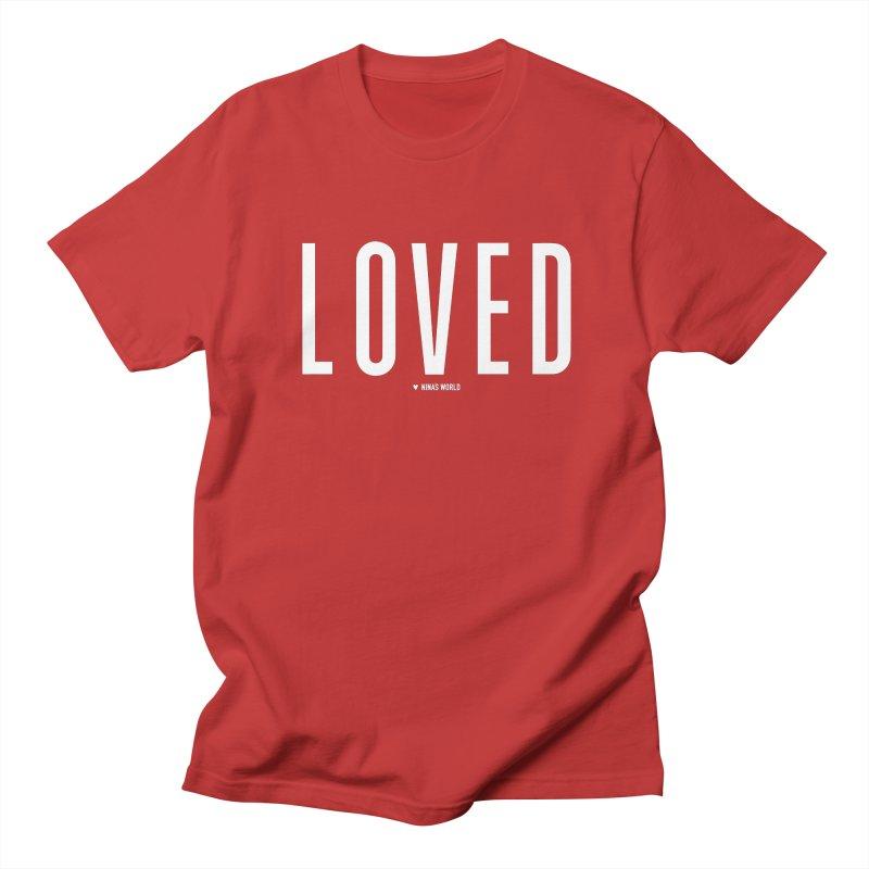 Loved Men's Regular T-Shirt by Nina's World!