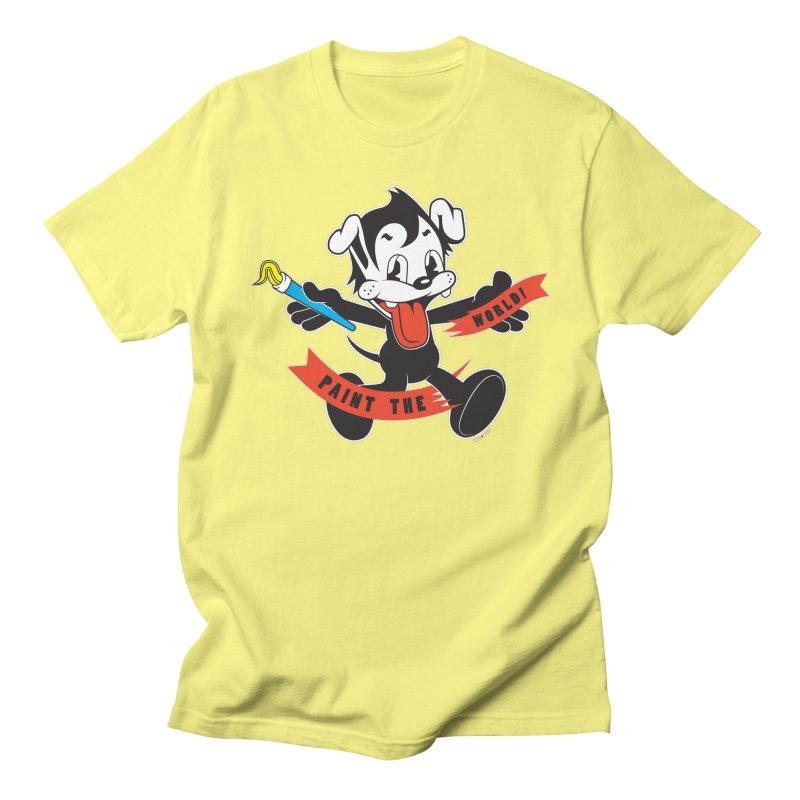 Paint The World in Men's Regular T-Shirt Lemon by Nina's World!
