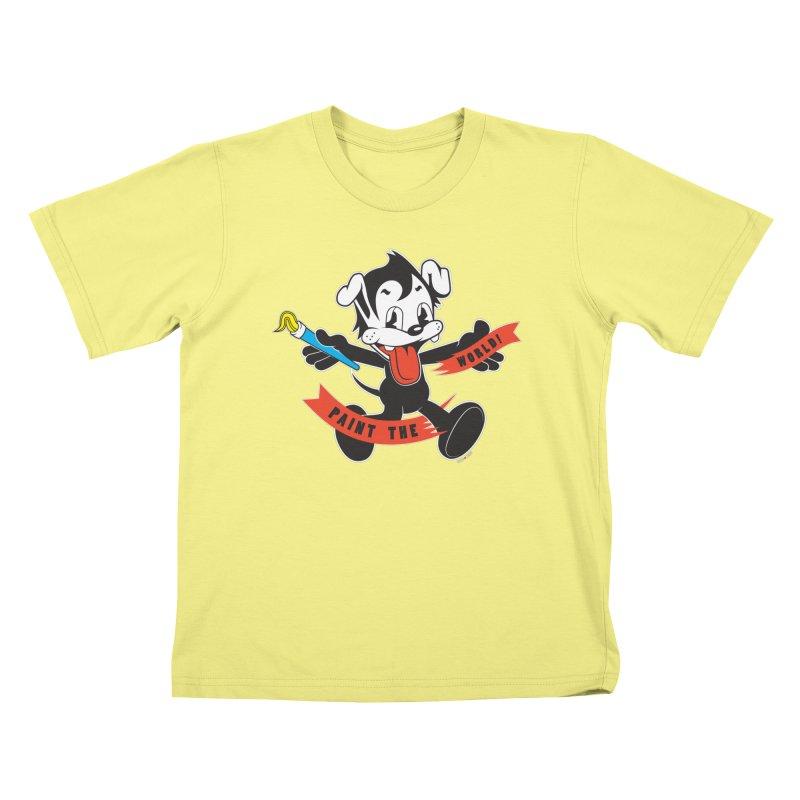 Paint The World Kids T-shirt by Nina's World!