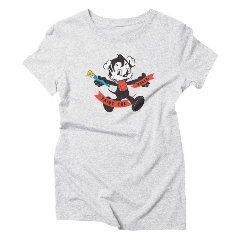 Paint The World Women's Triblend T-shirt by Nina's World!