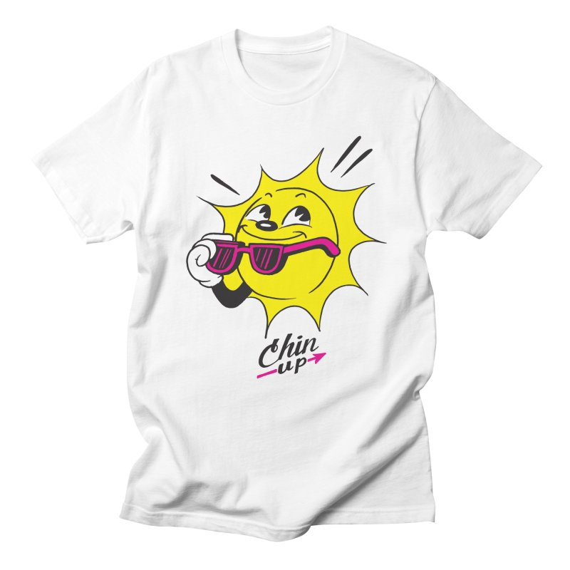 Chin Up! Men's Regular T-Shirt by Nina's World!