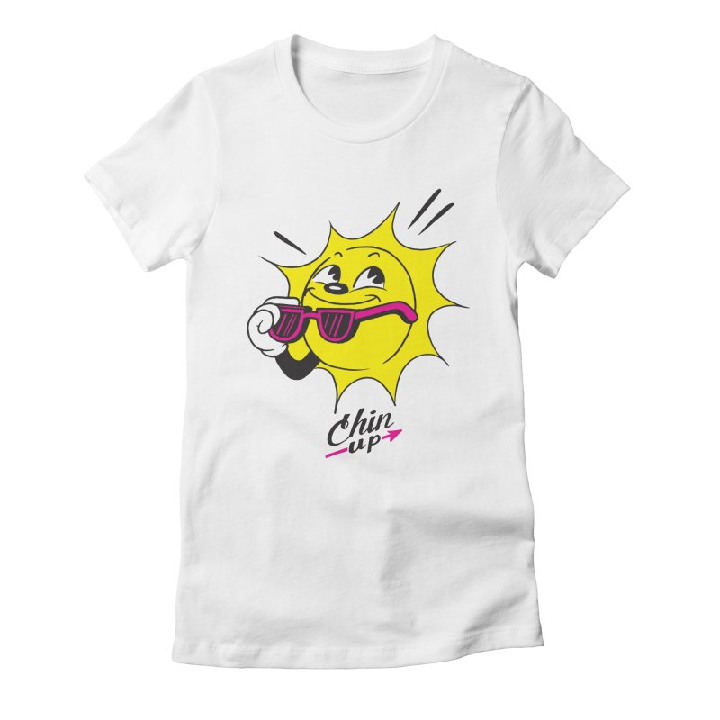 Chin Up! Women's Fitted T-Shirt by Nina's World