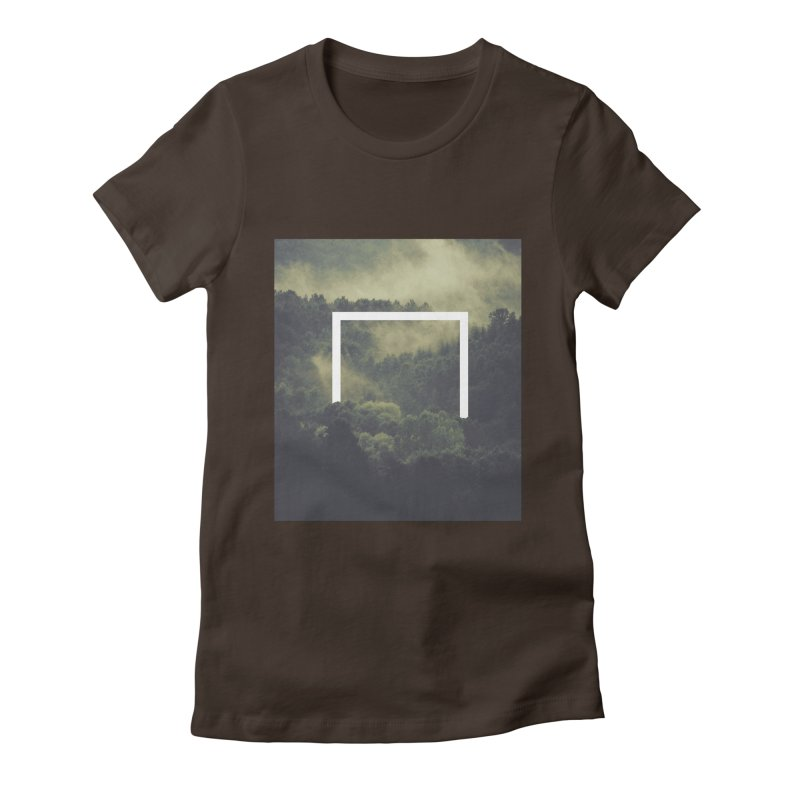 Forest Women's Fitted T-Shirt by ninetothree
