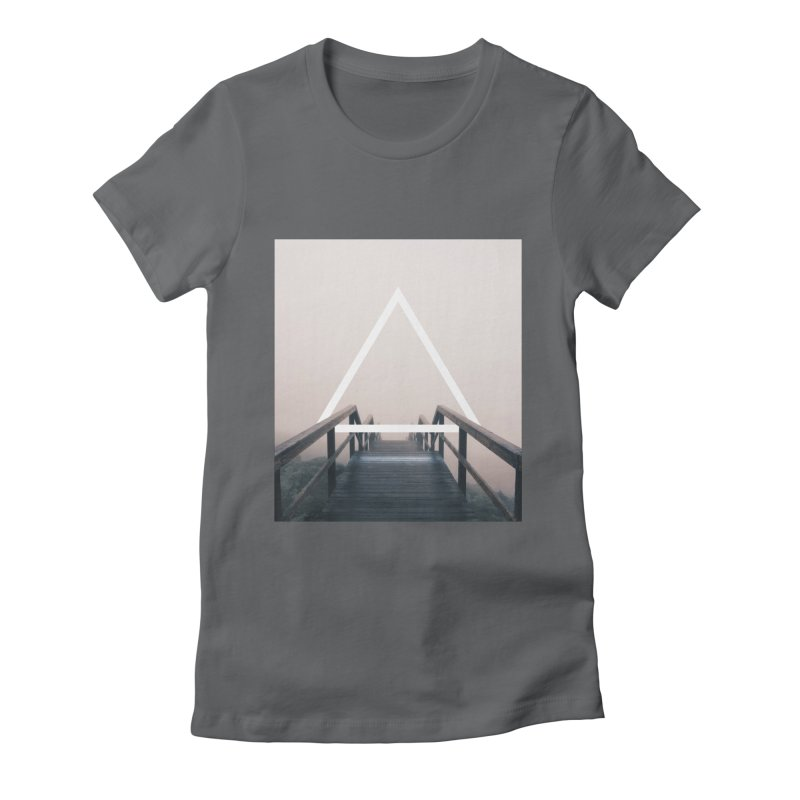 Stairs Women's Fitted T-Shirt by ninetothree