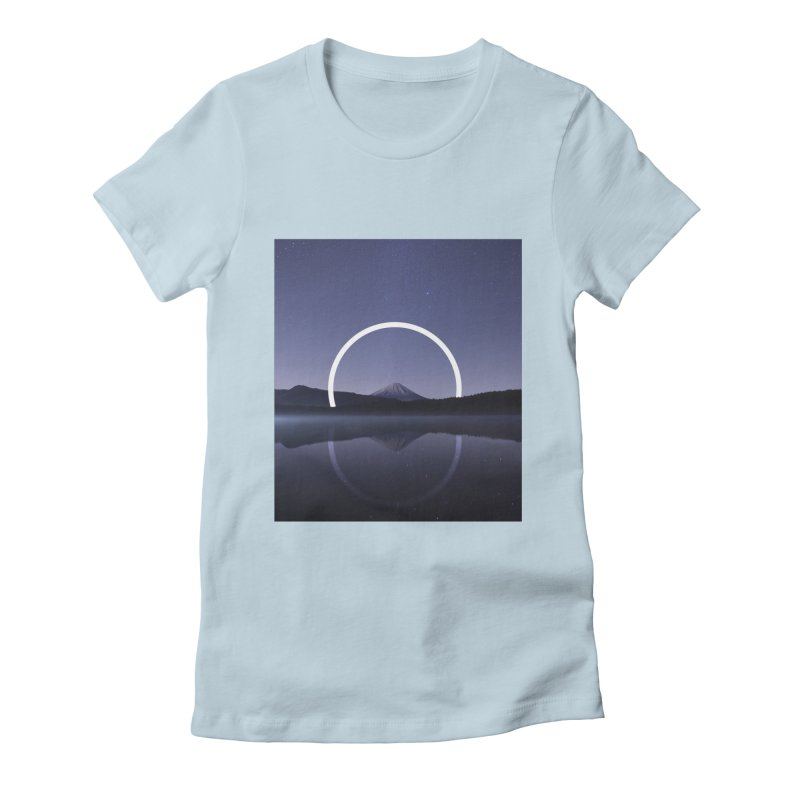 Reflection Women's Fitted T-Shirt by ninetothree