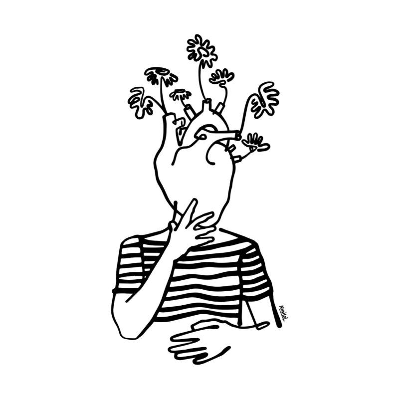 Head heart and flowers Men's T-Shirt by ninhol's Shop