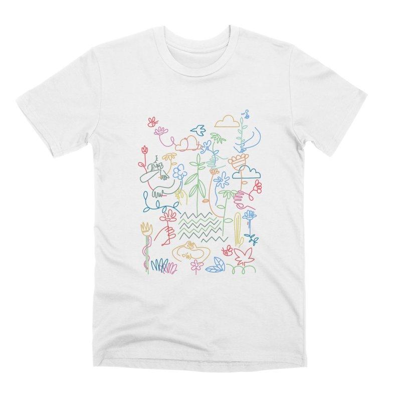 White garden Men's T-Shirt by ninhol's Shop