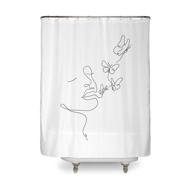 Butterflies in my stomach Home Shower Curtain by ninhol's Shop