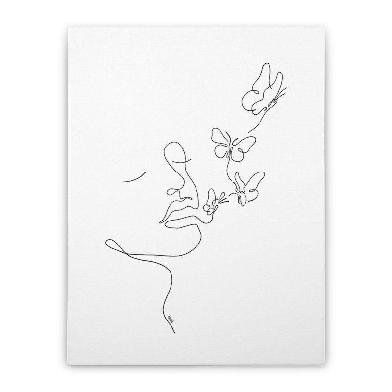Butterflies in my stomach Home Stretched Canvas by ninhol's Shop
