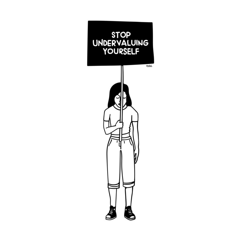Stop undervaluing yourself Home Bath Mat by ninhol's Shop