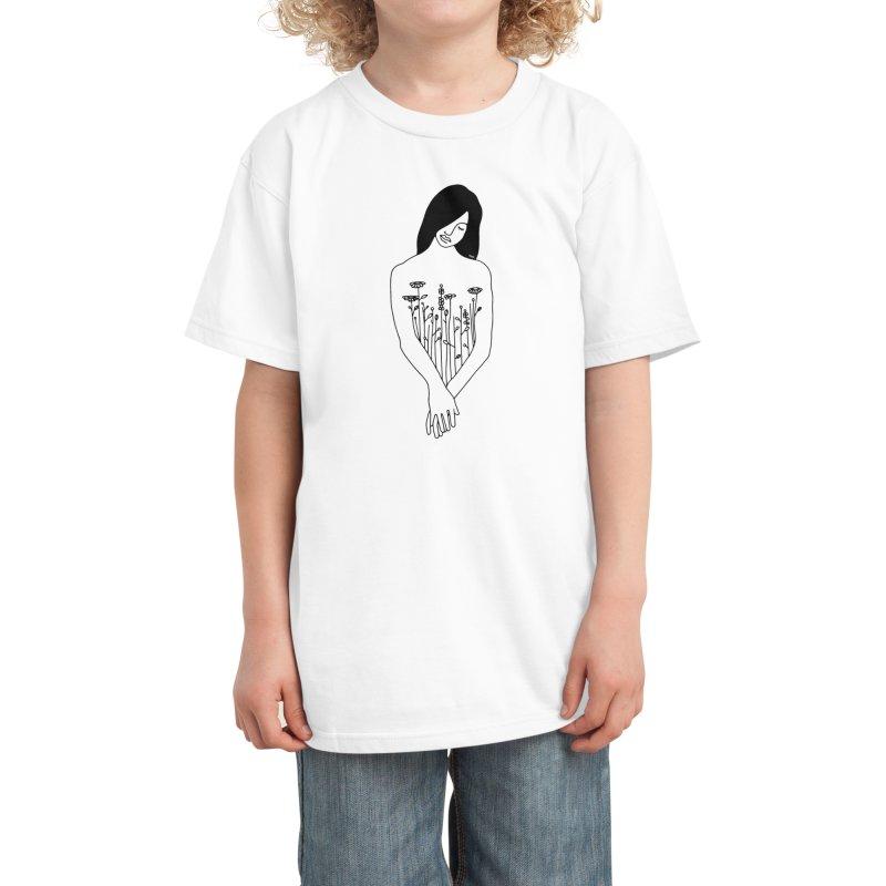 Plant lady Kids T-Shirt by ninhol's Shop