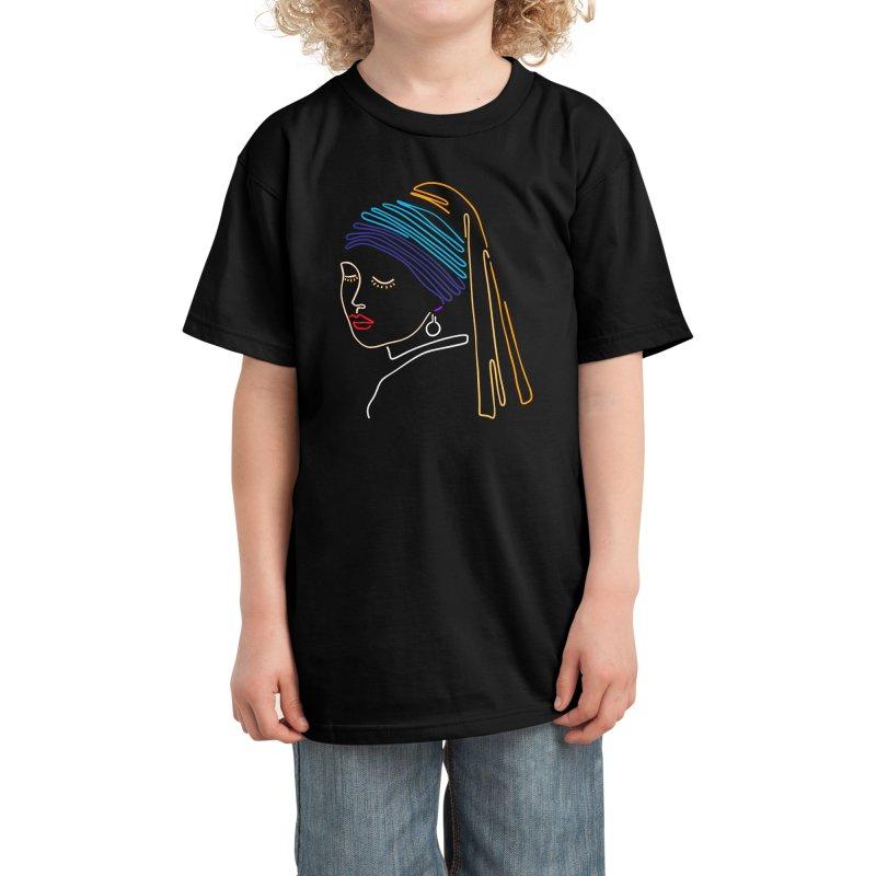 Girl with a pearl earring Kids T-Shirt by ninhol's Shop