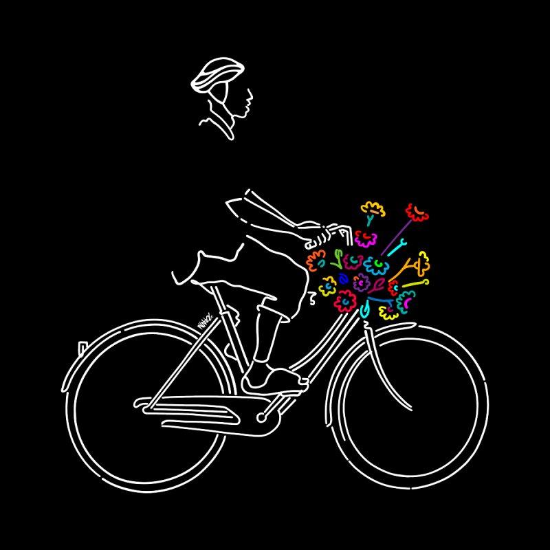 Bike with flowers Men's T-Shirt by ninhol's Shop