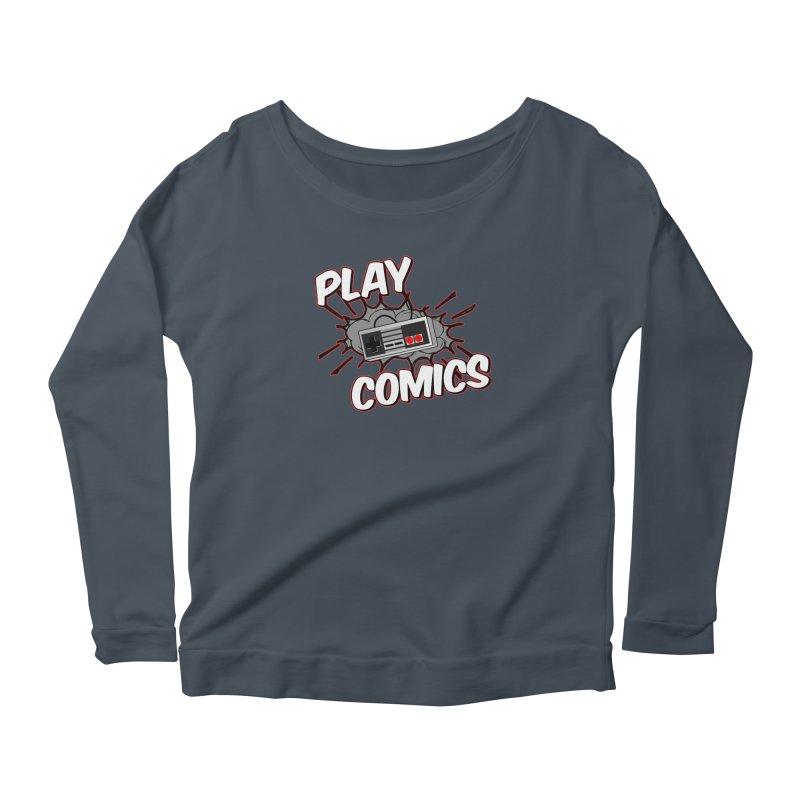 Old School Controller Women's Scoop Neck Longsleeve T-Shirt by Ninja Penguin Pods