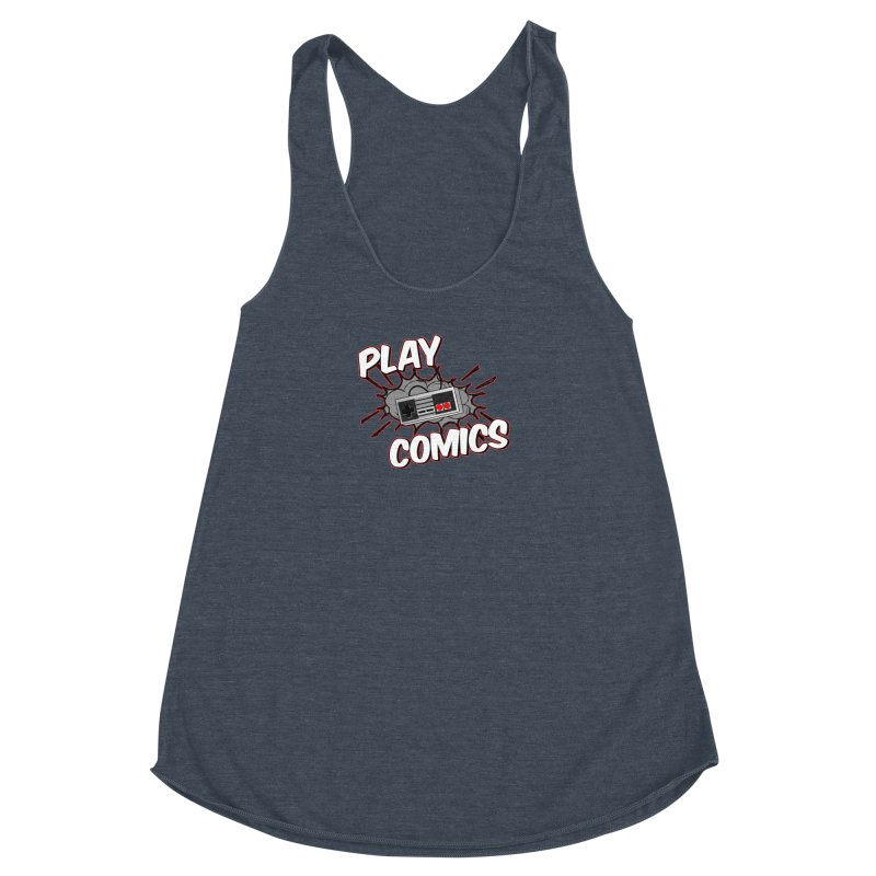 Old School Controller Women's Racerback Triblend Tank by Ninja Penguin Pods