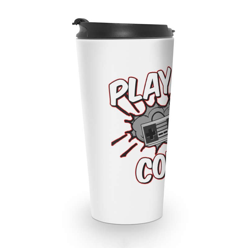 Old School Controller Accessories Travel Mug by Ninja Penguin Pods