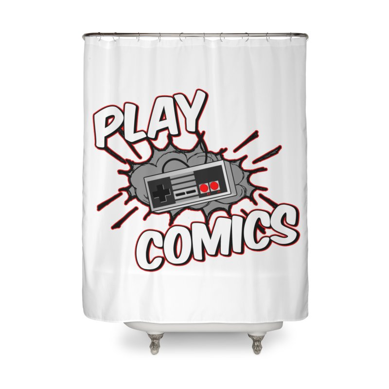 Old School Controller Home Shower Curtain by Ninja Penguin Pods