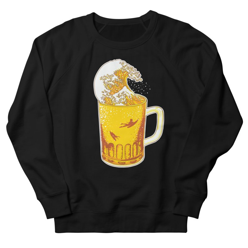 Beer Wave Men's Sweatshirt by ninobenito's Artist Shop