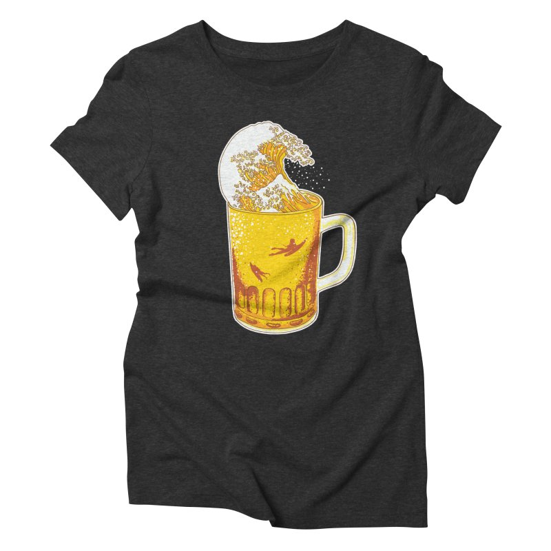 Beer Wave Women's Triblend T-Shirt by ninobenito's Artist Shop