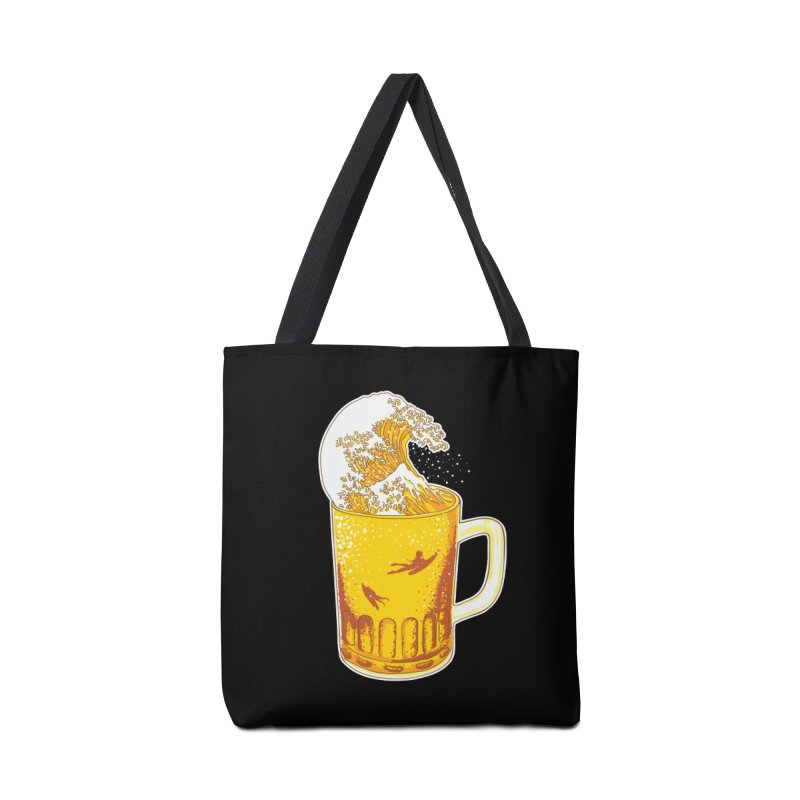 Beer Wave Accessories Bag by ninobenito's Artist Shop