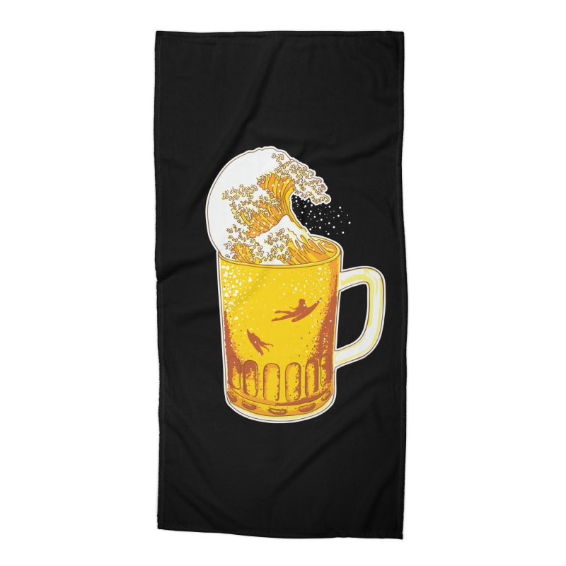 Beer Wave Accessories Beach Towel by ninobenito's Artist Shop