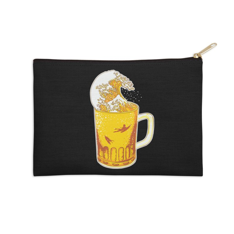 Beer Wave Accessories Zip Pouch by ninobenito's Artist Shop