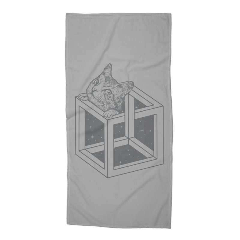 Opticat Illusion Accessories Beach Towel by ninobenito's Artist Shop