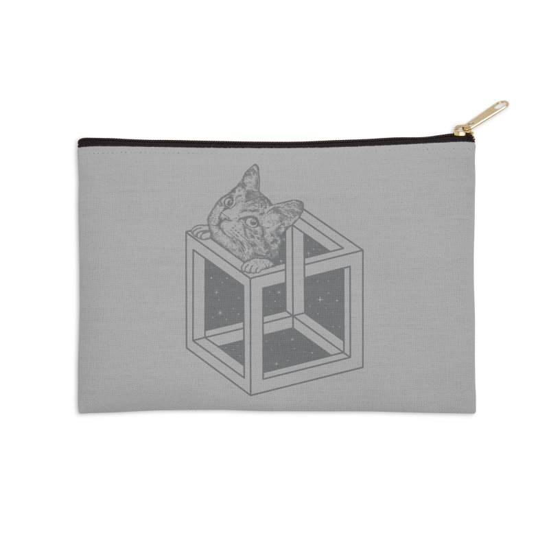 Opticat Illusion Accessories Zip Pouch by ninobenito's Artist Shop