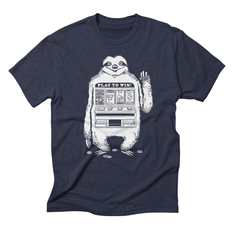 Sloth Machine in Men's Triblend T-Shirt Navy by ninobenito's Artist Shop