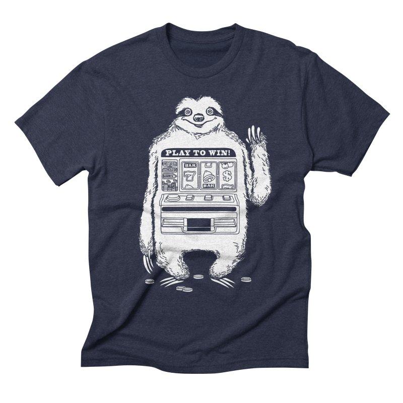 Sloth Machine Men's Triblend T-shirt by ninobenito's Artist Shop