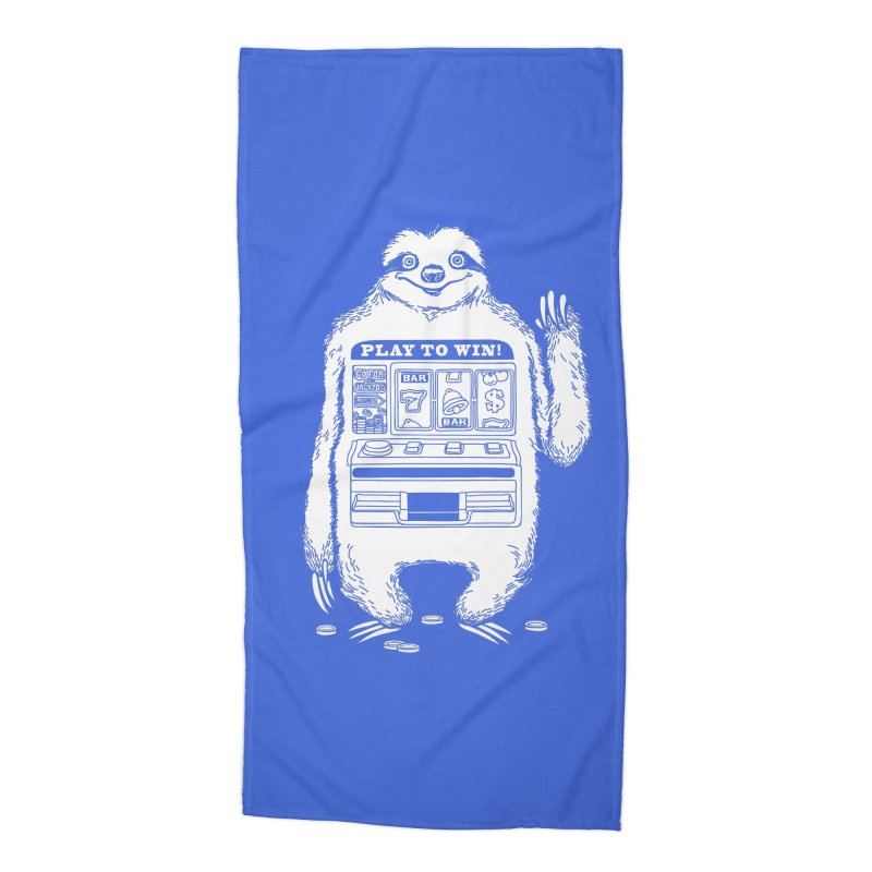 Sloth Machine Accessories Beach Towel by ninobenito's Artist Shop