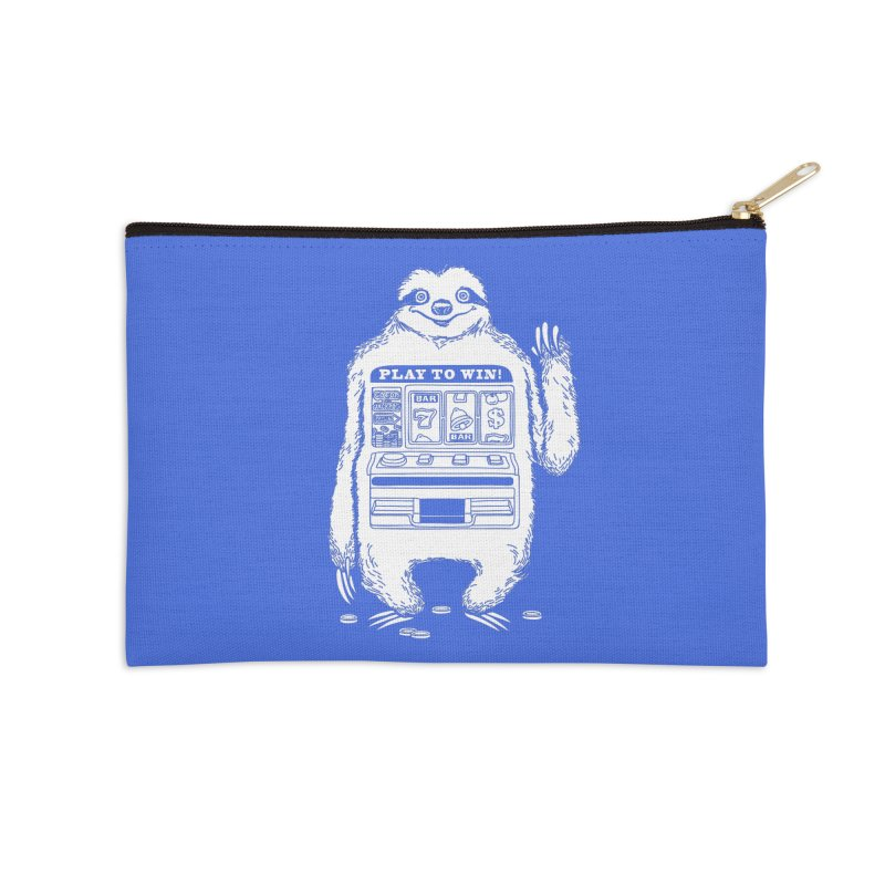 Sloth Machine Accessories Zip Pouch by ninobenito's Artist Shop
