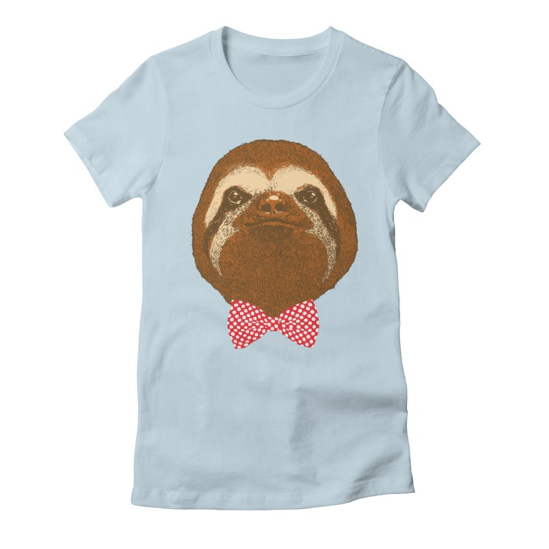 Mr. Sloth Women's Fitted T-Shirt by ninobenito's Artist Shop