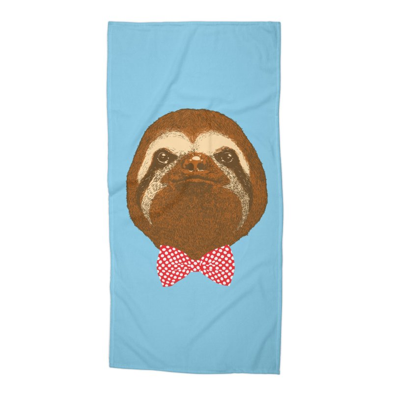 Mr. Sloth Accessories Beach Towel by ninobenito's Artist Shop