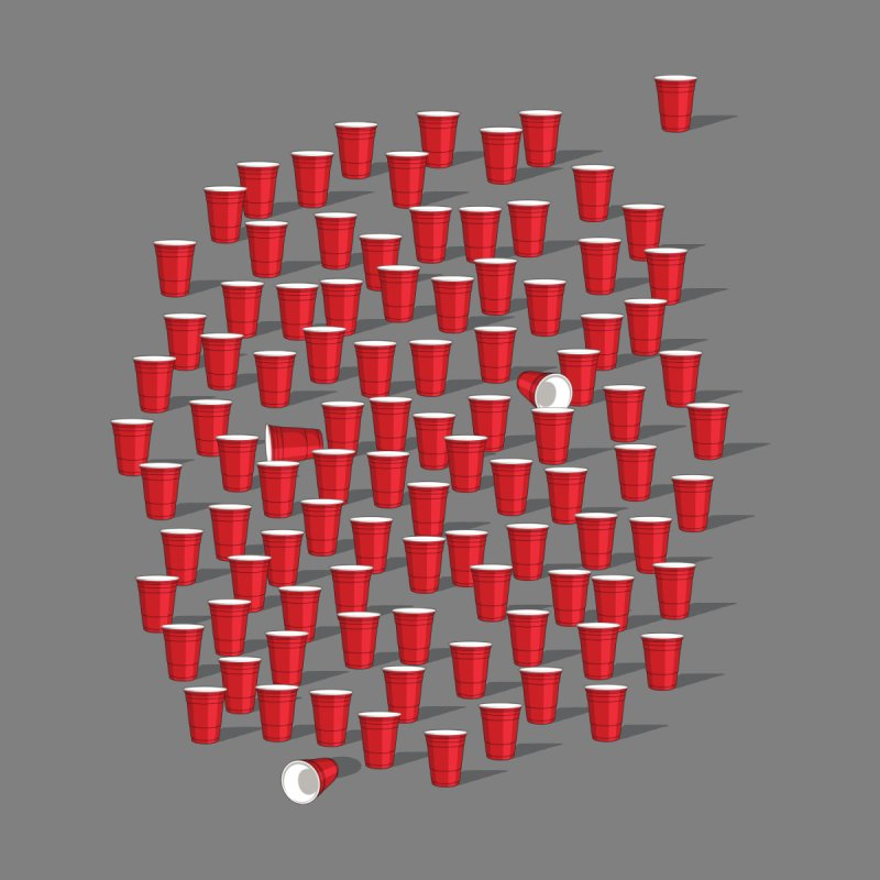 99 Red Cups by ninobenito's Artist Shop