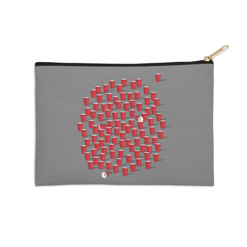 99 Red Cups Accessories Zip Pouch by ninobenito's Artist Shop
