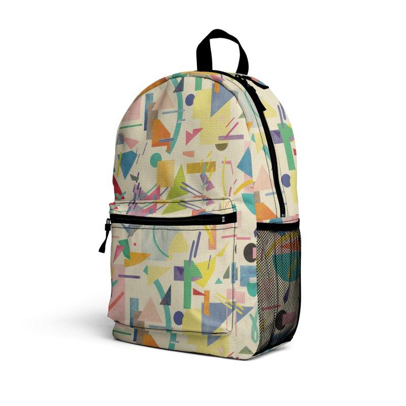 Geometric Collage Vintage Pop Accessories Bag by Ninola's Artist Shop