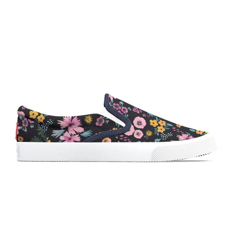 Little Flowers Multi Black Women's Shoes by Ninola's Artist Shop