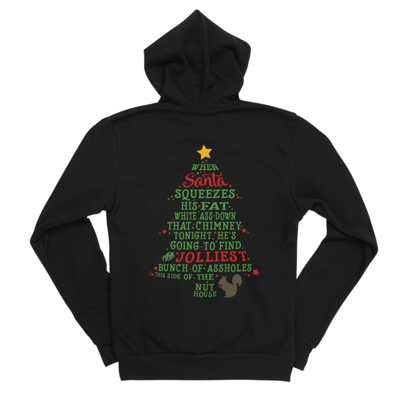 Jolliest bunch of a**holes Men's Sponge Fleece Zip-Up Hoody by Ninth Street Design's Artist Shop