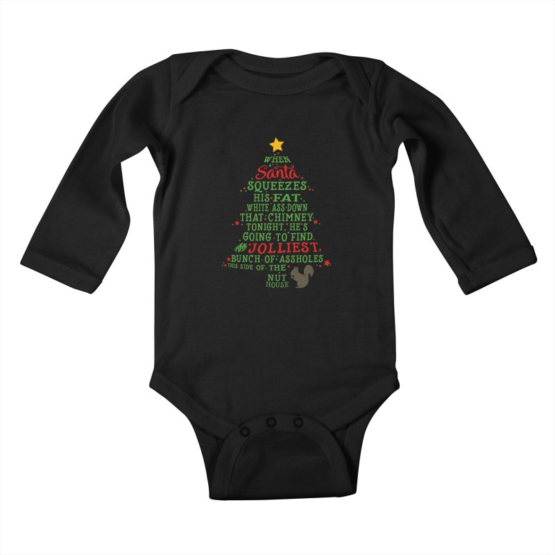Jolliest bunch of a**holes Kids Baby Longsleeve Bodysuit by Ninth Street Design's Artist Shop