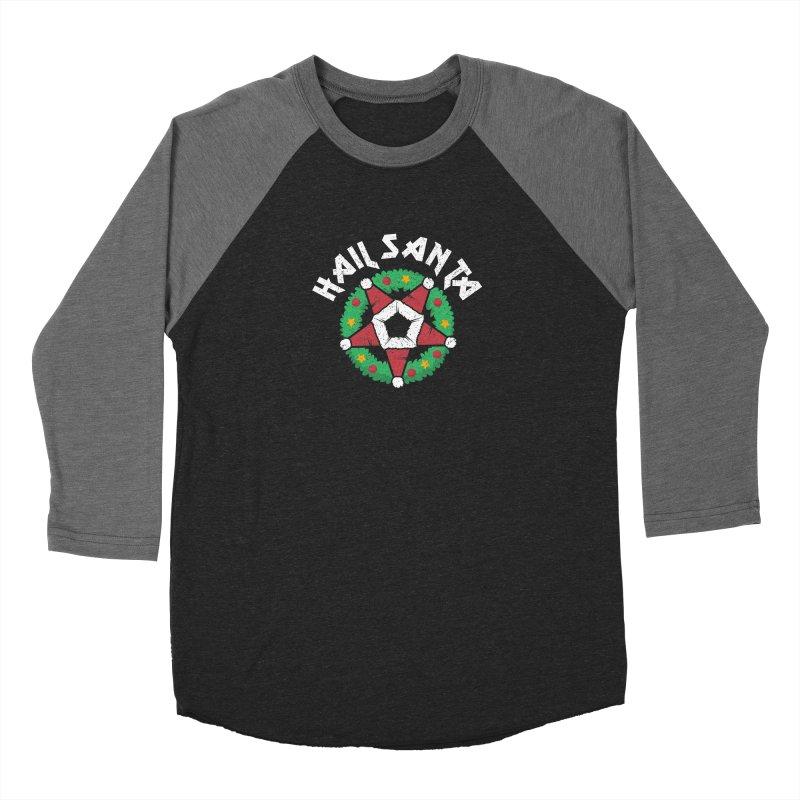 Hail Santa Men's Baseball Triblend Longsleeve T-Shirt by Ninth Street Design's Artist Shop