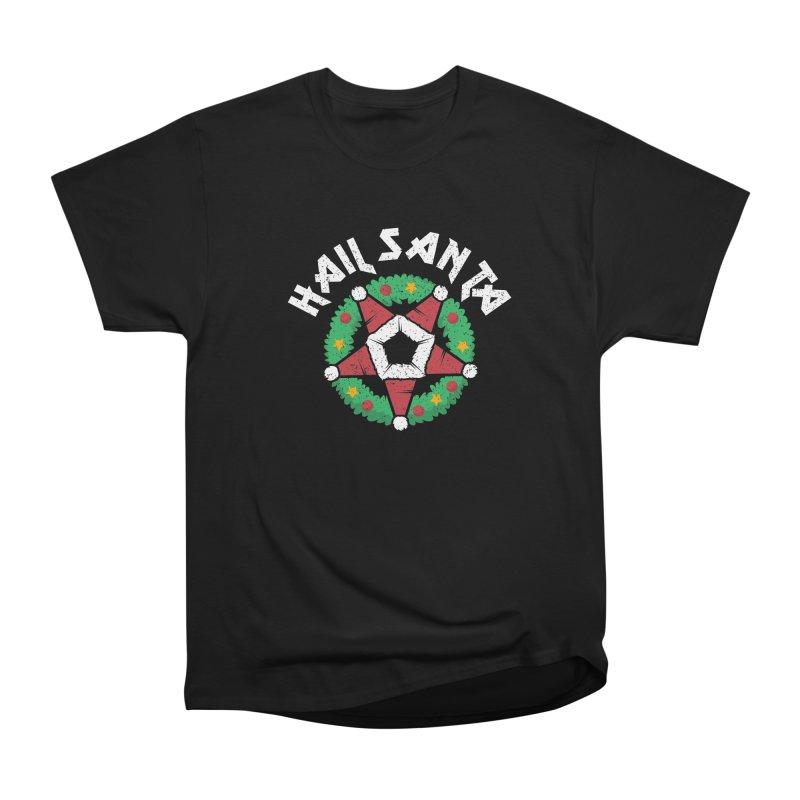 Hail Santa Men's Heavyweight T-Shirt by Ninth Street Design's Artist Shop