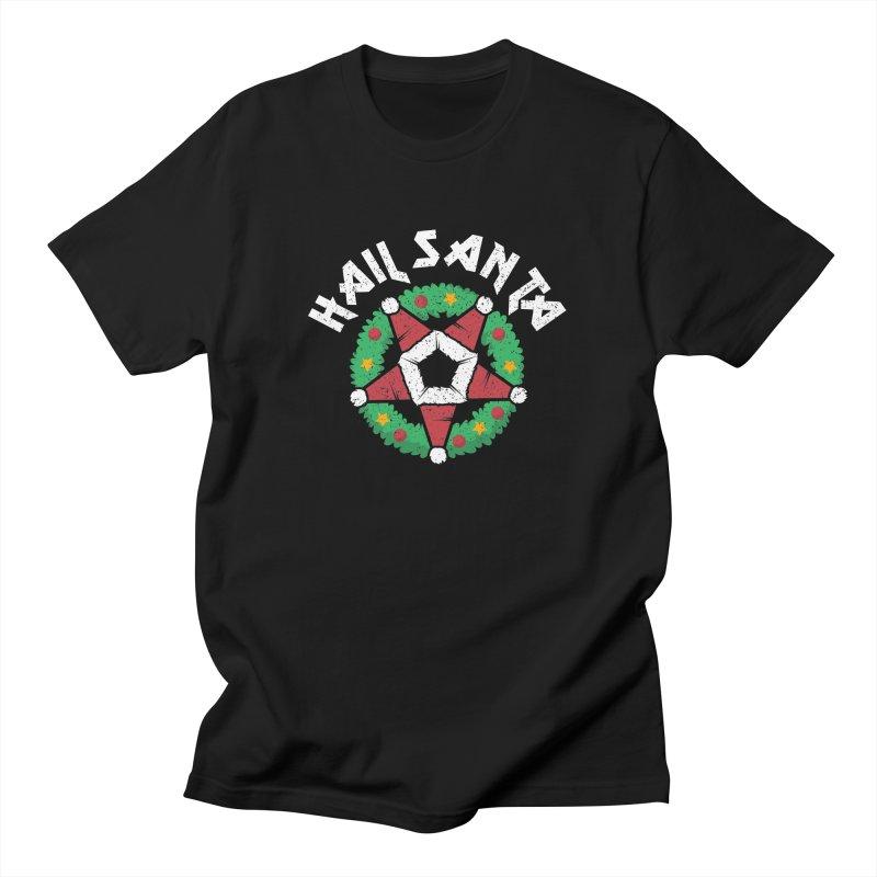 Hail Santa Men's T-Shirt by Ninth Street Design's Artist Shop