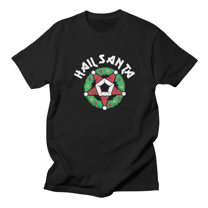 Hail Santa Men's Regular T-Shirt by Ninth Street Design's Artist Shop