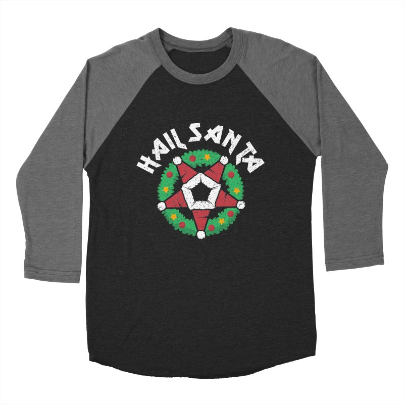 Hail Santa Women's Baseball Triblend Longsleeve T-Shirt by Ninth Street Design's Artist Shop