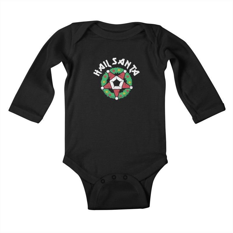Hail Santa Kids Baby Longsleeve Bodysuit by Ninth Street Design's Artist Shop