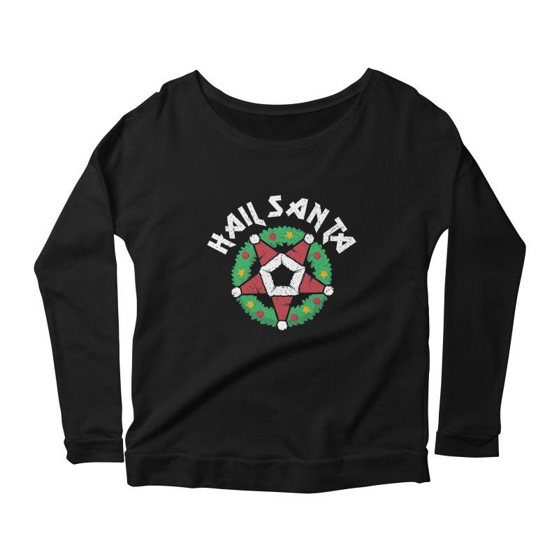 Hail Santa Women's Scoop Neck Longsleeve T-Shirt by Ninth Street Design's Artist Shop