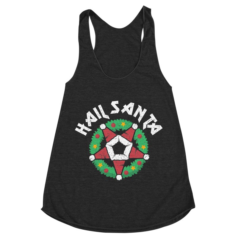 Hail Santa Women's Racerback Triblend Tank by Ninth Street Design's Artist Shop